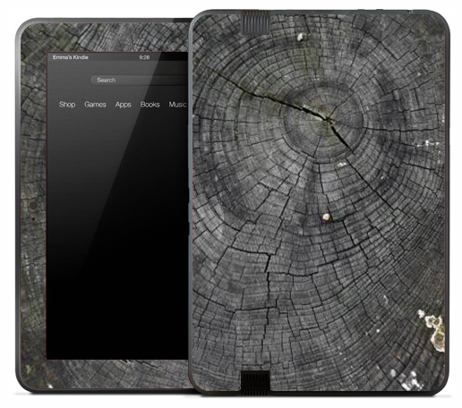 Dark Cracked Wood Knot Skin for the Amazon Kindle