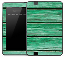 Copy of Vintage Horizontal Green Wood Skin for the Amazon Kindle