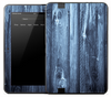 Blue Vertical Wood Slats Skin for the Amazon Kindle