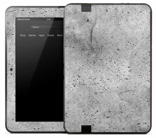White Splattered Paper Skin for the Amazon Kindle