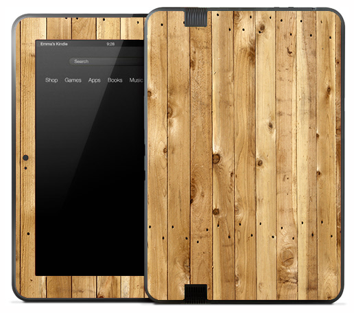 Vertical Light Oak Skin for the Amazon Kindle