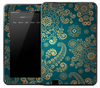Artistic Blue & Gold Skin for the Amazon Kindle