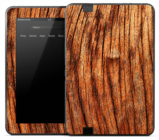 Vintage Bare Wood Skin for the Amazon Kindle