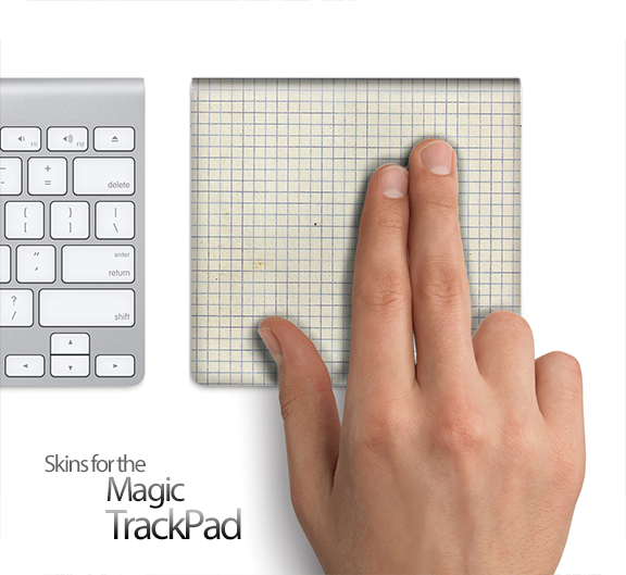 Graph Paper Skin for the Apple Magic Trackpad