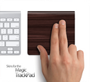 Dark Wood Grain Skin for the Apple Magic Trackpad
