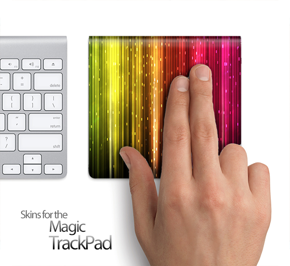 Neon Rain Skin for the Apple Magic Trackpad
