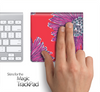 Pink & Red Floral Skin for the Apple Magic Trackpad
