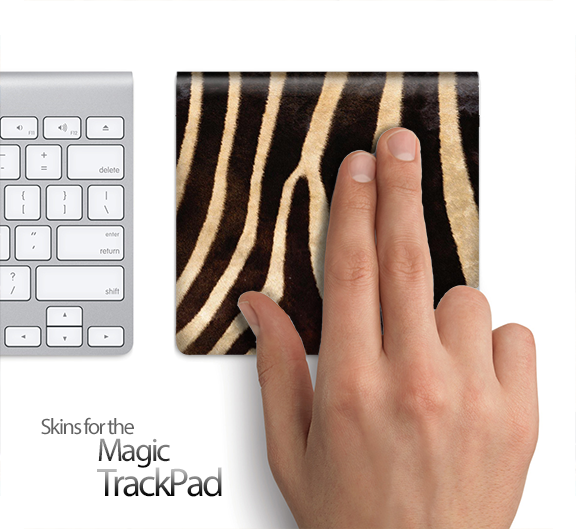 Real Zebra Print Skin for the Apple Magic Trackpad