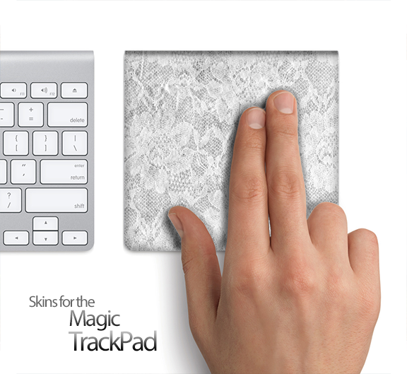 White Lace Skin for the Apple Magic Trackpad