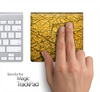 Cracked Yellow Surface Skin for the Apple Magic Trackpad