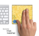 Orange Abstract Floral Print Skin for the Apple Magic Trackpad