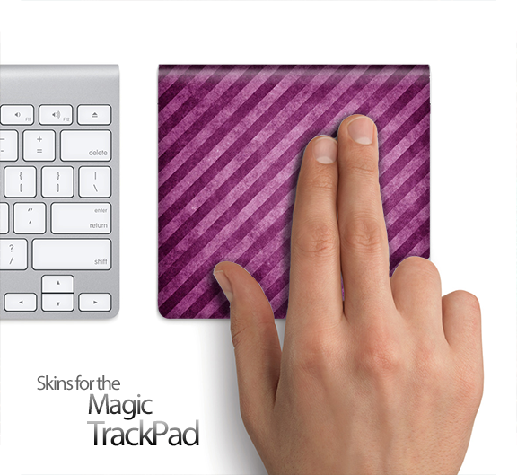 Purple Striped Skin for the Apple Magic Trackpad