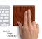Mahogany Wood Skin for the Apple Magic Trackpad