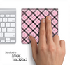 Pink Plaid Skin for the Apple Magic Trackpad