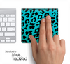 Turquoise Cheetah Skin for the Apple Magic Trackpad