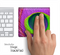 Neon Peacock Skin for the Apple Magic Trackpad