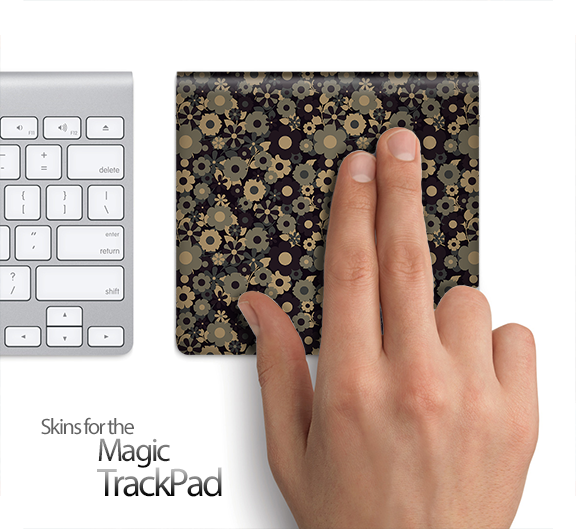 Tiny Floral Sprocket Skin for the Apple Magic Trackpad