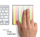 Neon Bright Stripes Skin for the Apple Magic Trackpad