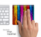 Neon Bright Wood Skin for the Apple Magic Trackpad