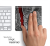 Cracked Red Core Skin for the Apple Magic Trackpad