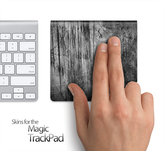 Grungy Scratched Surface Skin for the Apple Magic Trackpad