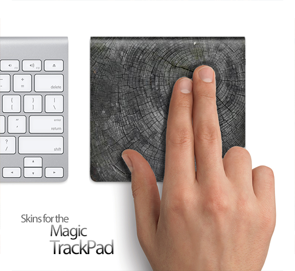 Cracked Wood Stump Skin for the Apple Magic Trackpad