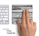 White Wood Slabs Skin for the Apple Magic Trackpad
