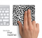 White And Black Leopard Skin for the Apple Magic Trackpad