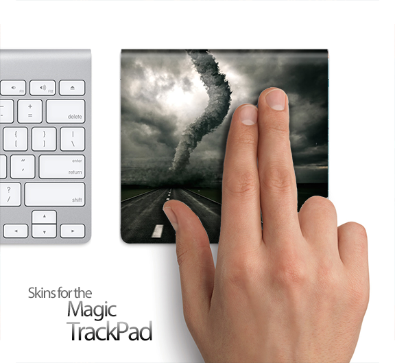 Stormy Tornado Road Skin for the Apple Magic Trackpad
