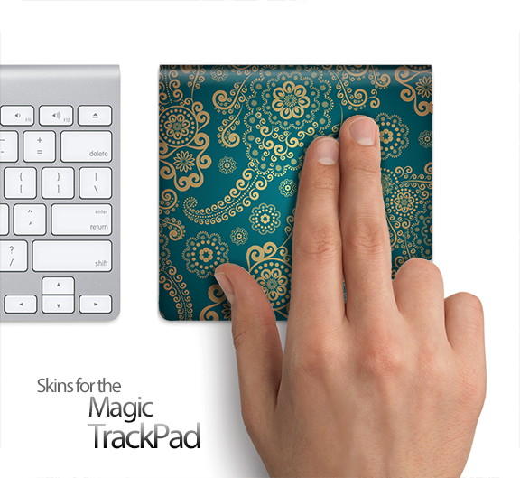 Green Lace Pattern Skin for the Apple Magic Trackpad