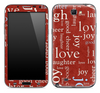 Love Wallpaper Skin for the Samsung Galaxy Note 1 or 2