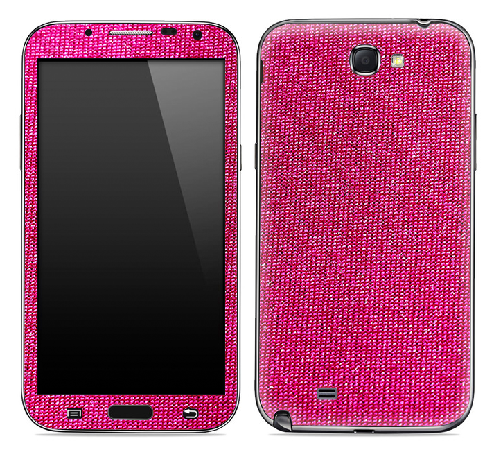 Pink Fabric Skin for the Samsung Galaxy Note 1 or 2