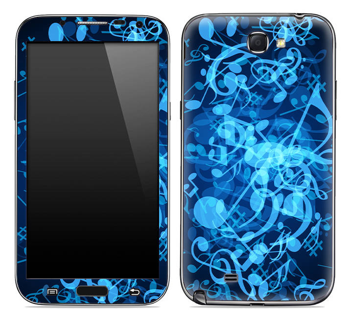 Glowing Music Notes Skin for the Samsung Galaxy Note 1 or 2
