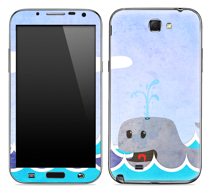 Whale Illustration Skin for the Samsung Galaxy Note 1 or 2