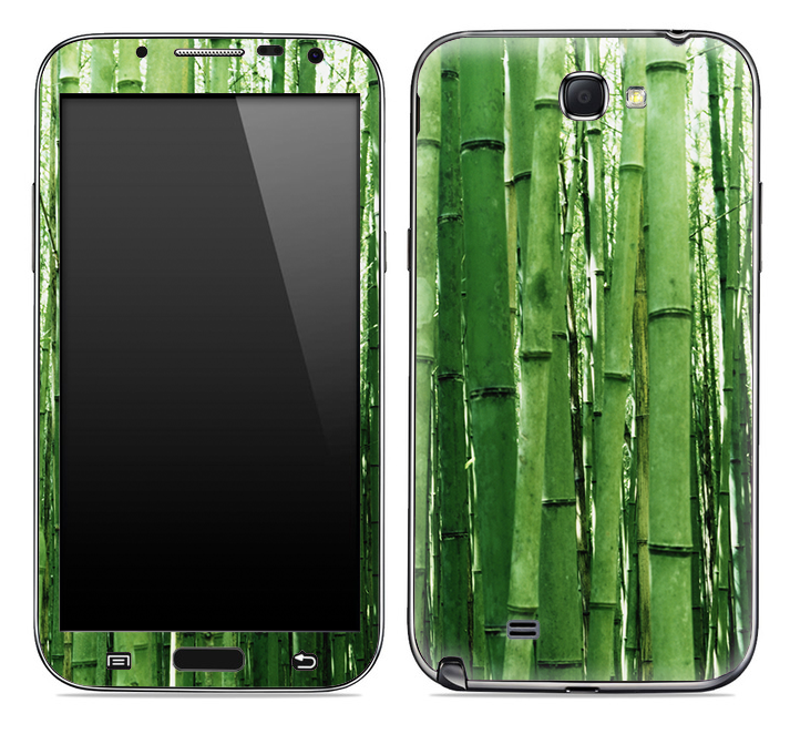 Green Bamboo Trees Print Skin for the Samsung Galaxy Note 1 or 2