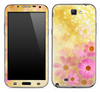 Pink Floral on Yellow Skin for the Samsung Galaxy Note 1 or 2