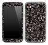 Black Abstract Floral Skin for the Samsung Galaxy Note 1 or 2