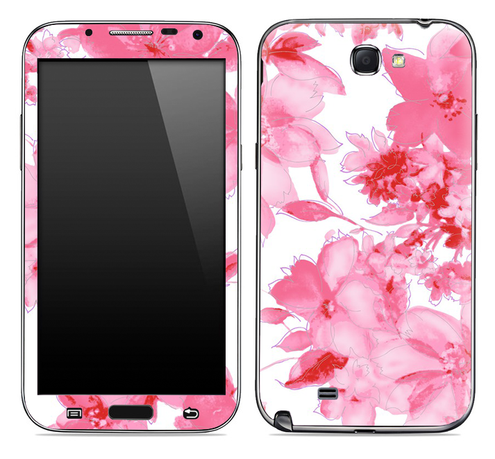 Pink Abstract Floral Skin for the Samsung Galaxy Note 1 or 2