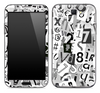 Letters and Numbers Collage Skin for the Samsung Galaxy Note 1 or 2