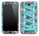Turquoise Laced Converse Shoe Skin for the Samsung Galaxy Note 1 or 2