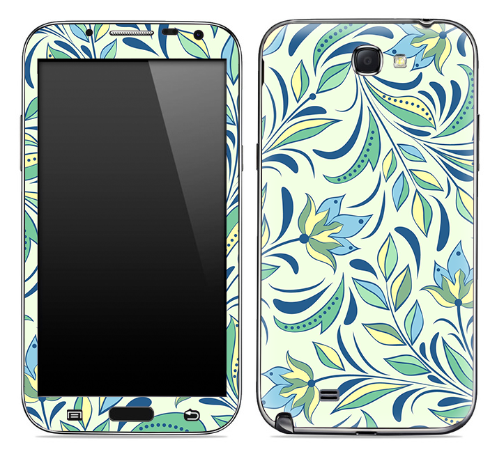 Abstract Floral Skin for the Samsung Galaxy Note 1 or 2