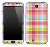 Colorful Plaid Skin for the Samsung Galaxy Note 1 or 2