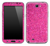 Pink Glitter Ultra Metallic Skin for the Samsung Galaxy Note 1 or 2