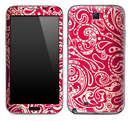 Red Paisley Pattern Skin for the Samsung Galaxy Note 1 or 2