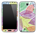 Seamless Color Floral Skin for the Samsung Galaxy Note 1 or 2