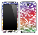 Colorful Zebra Print Skin for the Samsung Galaxy Note 1 or 2
