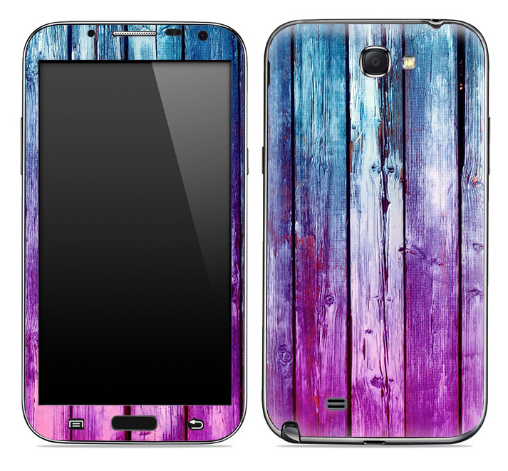 Pink & Blue Dyed Wood Skin for the Samsung Galaxy Note 1 or 2