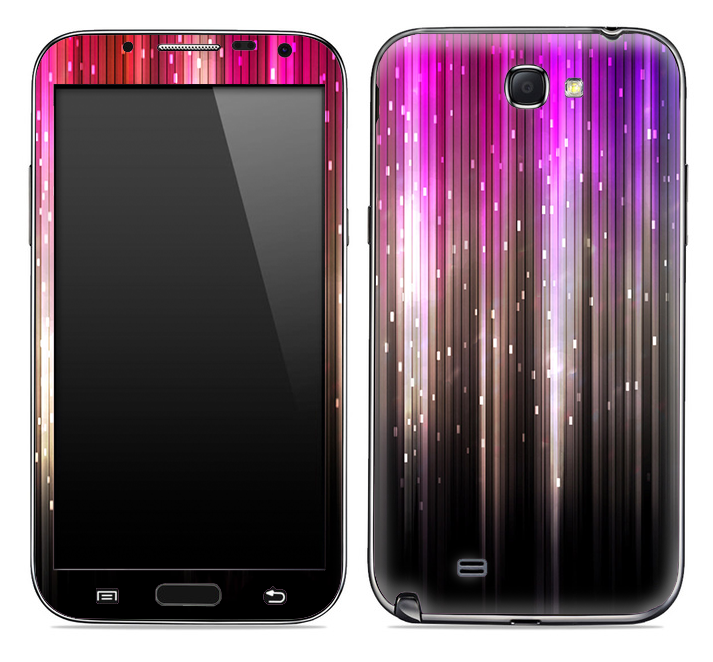 Neon Rain Skin for the Samsung Galaxy Note 1 or 2
