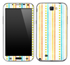 Vintage Colorful Striped Skin for the Samsung Galaxy Note 1 or 2