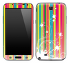 Bright Striped White Floral Skin for the Samsung Galaxy Note 1 or 2